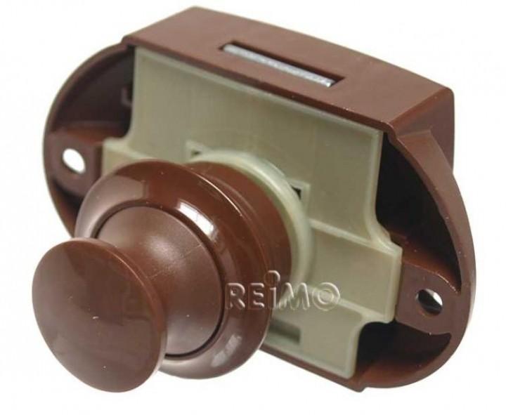 Push-Lock beidseitig betätigbar braun