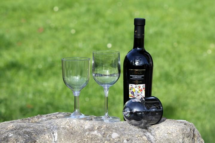 Relags Outdoor Weinglas 340 ml schwarz