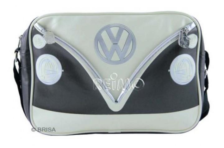 VW Collection Schultertasche VW Bulli Querformat braun/creme