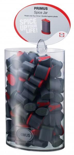 Primus Gewürzstreuer dreifach in Displayröhre 102 Stück rot und schwarz