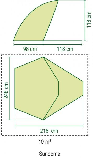 Coleman Standmuschel Sundome green