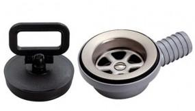 Ablaufgarnitur für Can Waschbecken gewinkelt 25mm