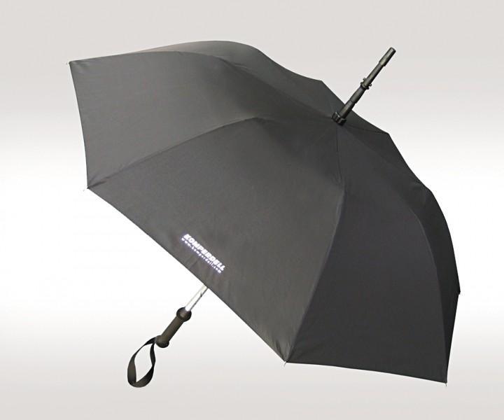 EuroSchirm 'Komperdell' Trekkingstock/Schirm schwarz