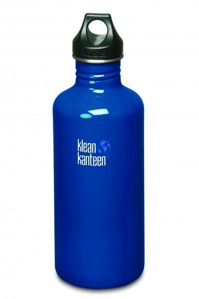 Klean Kanteen Flasche 'Classic' Loop Cap dunkelblau, 1,182 L