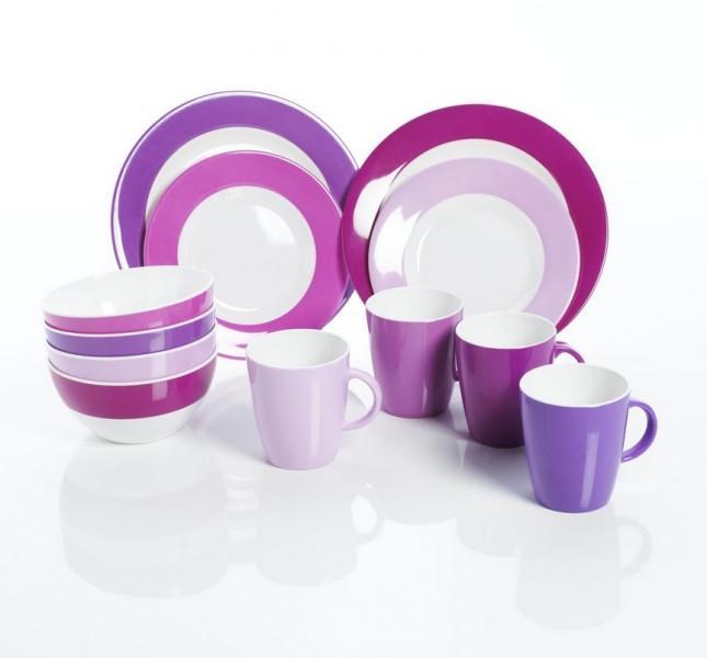 Melamingeschirr-Set 16-tlg. Purple Rain