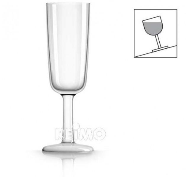 Polycarbonat Sektgläser White 180ml 4 Stück