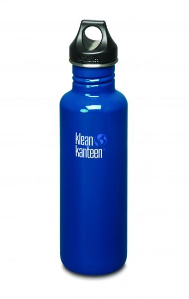 Klean Kanteen Flasche 'Classic' Loop Cap dunkelblau, 0,8 L