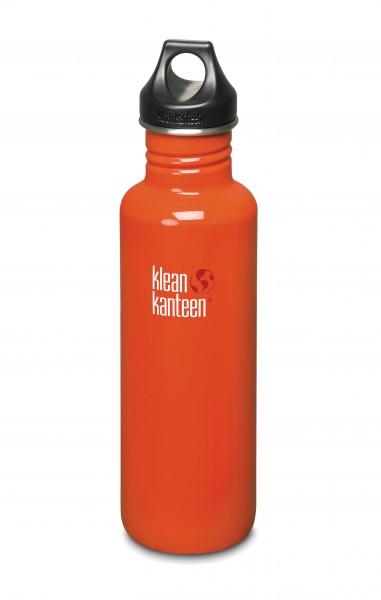 Klean Kanteen Flasche 'Classic' Loop Cap rot, 0,8 L