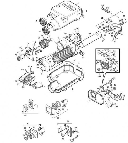 Elektrogehäuse kplt. für Trumatic E 2400