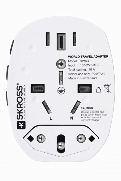Skross Steckeradapter 'World Pro +' Schuko