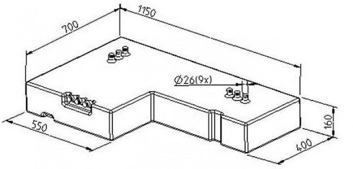 Abwassertank Ford Transit ab Bj. 2000