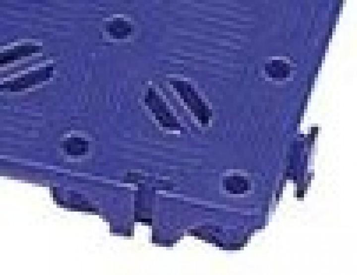 Kunststoff-Bodenrost Clippy blau 50 x 50 cm