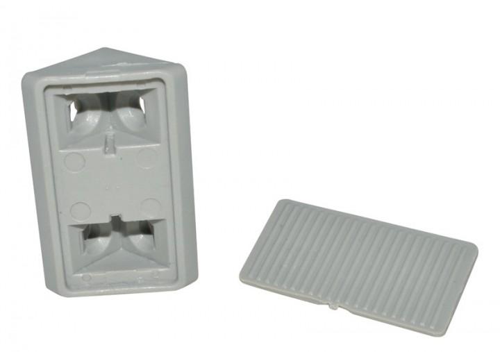 Möbelverbinder 2-teilig grau