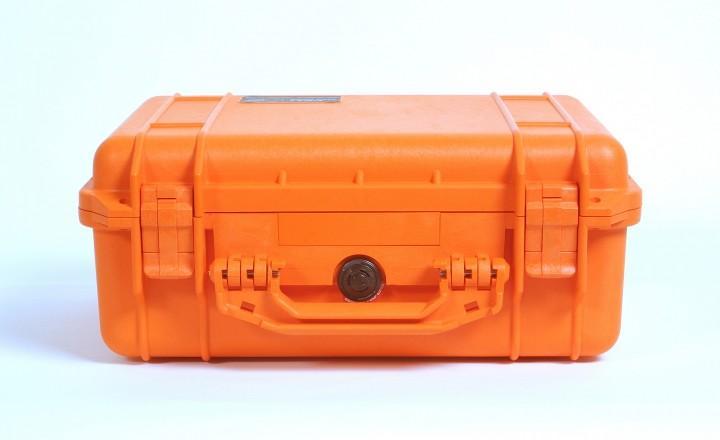 Pelibox 1450 orange mit Schaumeinsatz