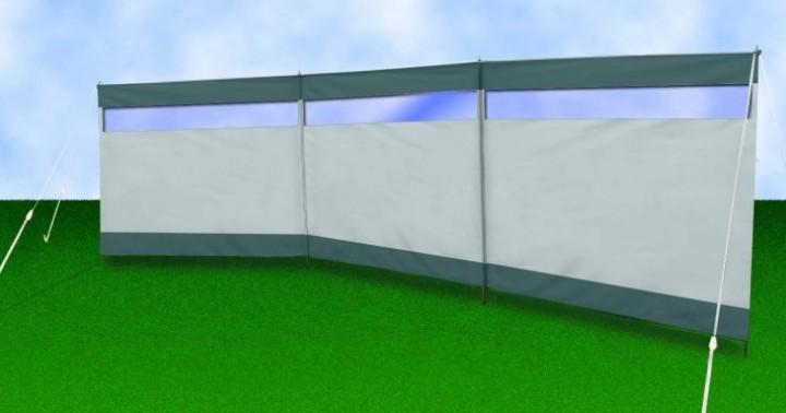 Windschutz Camping und Strand mit Fenster