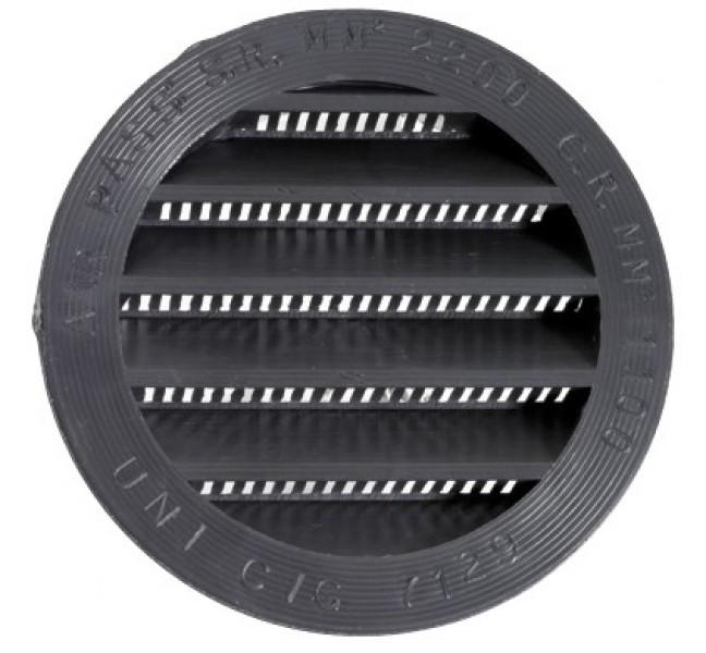Lüftungsgitter rund 80 mm braun