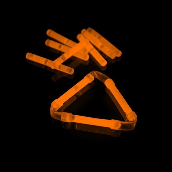 Knicklicht, 3,9 cm, Box mit 40 x 2 Stück orange