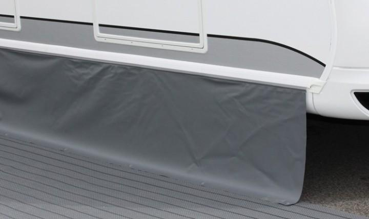 Bodenschürze Premium Höhe 50 cm hellgrau-dunkelgrau Länge 7 Meter