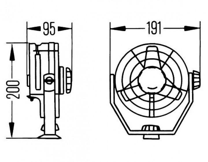 HELLA-Turbo-Ventilator 12 Volt