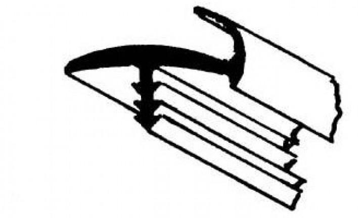 Türinnenumleimer mit Dichtlippe mittelgrau lfm