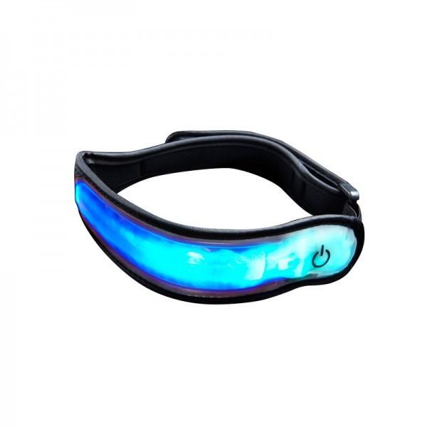 Proviz LED Armband blau Größe S