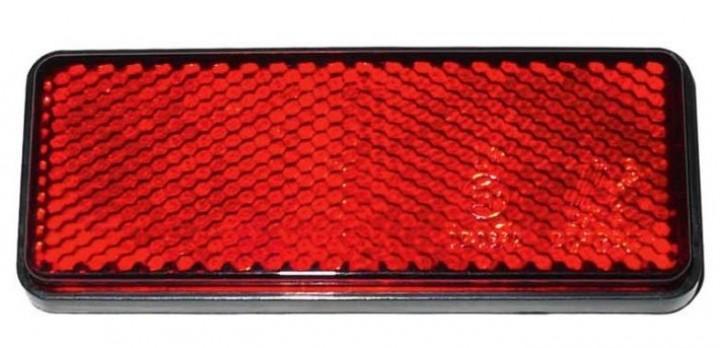 Reflektor rechteckig Rot 95x38 mm