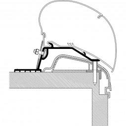 Rooftop-Adapter für Hobby Wohnwagen Ab Bj. 2012, Premium