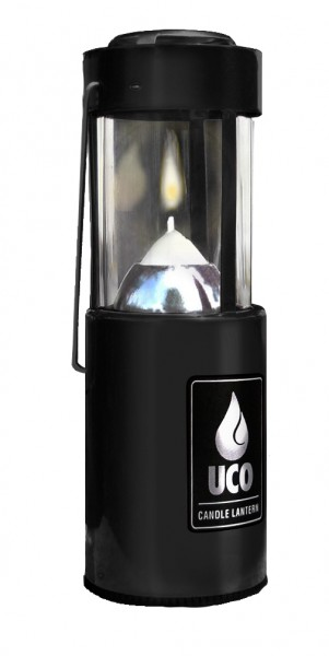 UCO Kerzenlaterne Alu, anodisiert, schwarz