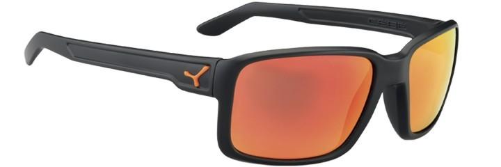 Cebe Sonnenbrille Whisper matt schwarz-rot polarisiert