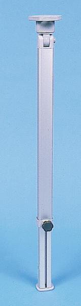 Klapptischfuß Silber Höhe 555-765 mm Gelenk oben