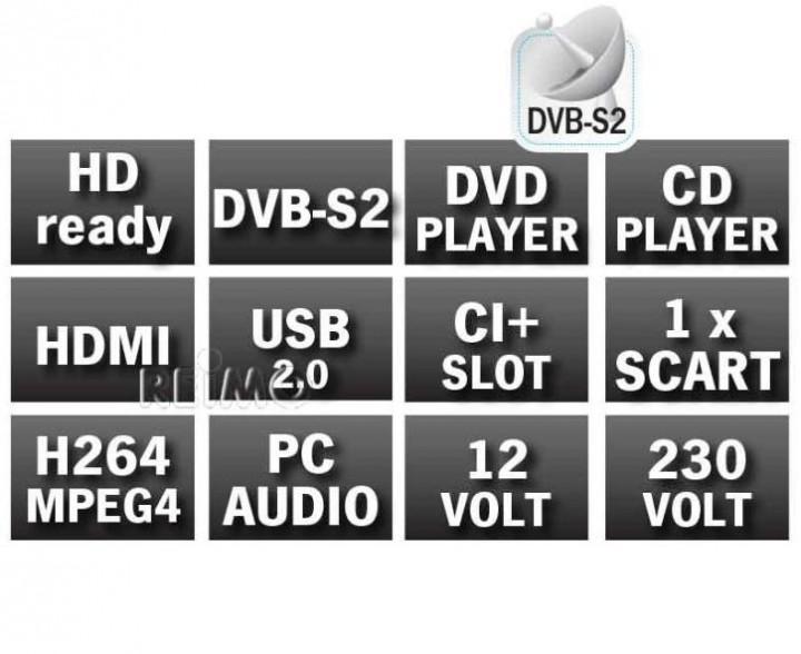 12V Fernseher LCD-LED TV Carbest 19 Zoll