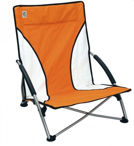 Brunner Strandstuhl Cuba orange-weiß