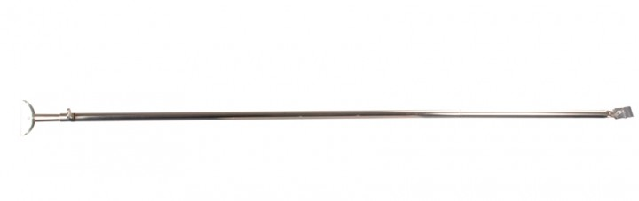 Orkanstütze mit Bügelfuß Stahl 25 mm 125-205 cm