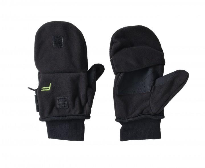 F Handschuhe 'Klapp-Fäustling' schwarz, XS