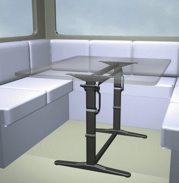Hubtischgestell Traveline Twin braun 680 mm