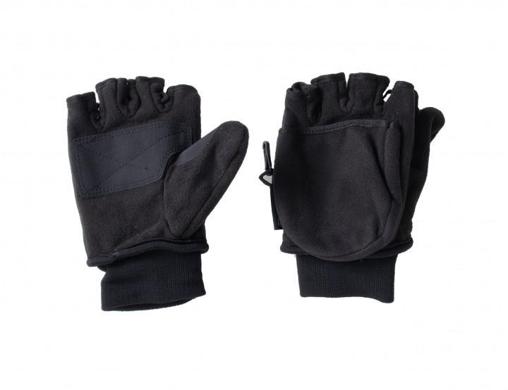 F Handschuhe 'Klapp-Fäustling' schwarz, M