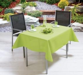 Tischdecke Milano hellgrün 160 x 160 cm
