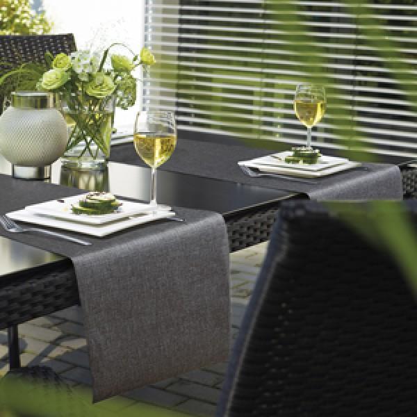 Tischläufer Miami metallic silber