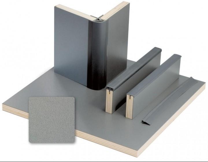 Möbelbauplatte 2,44x1,22m Anthrazit Metallic