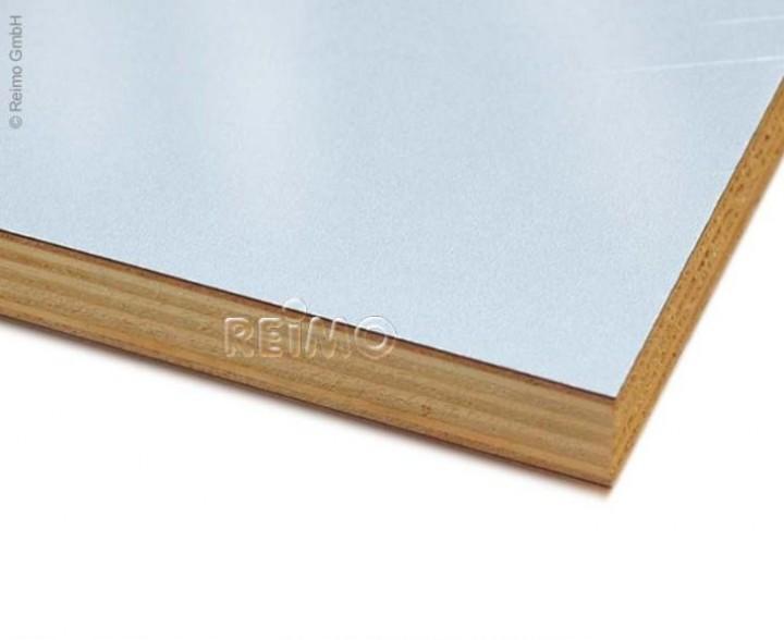 Möbelbauplatte 2,44x1,22m Hochglanz silber