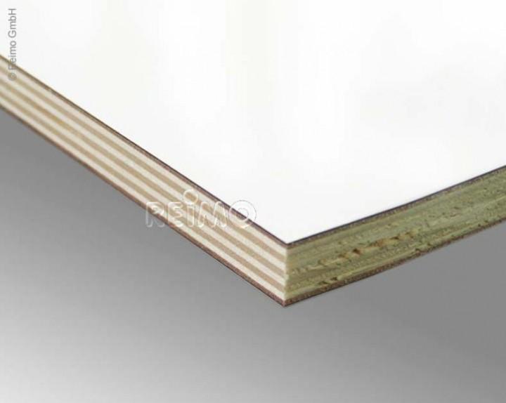 Möbelbauplatte 2,44x1,22m Hochglanz weiß