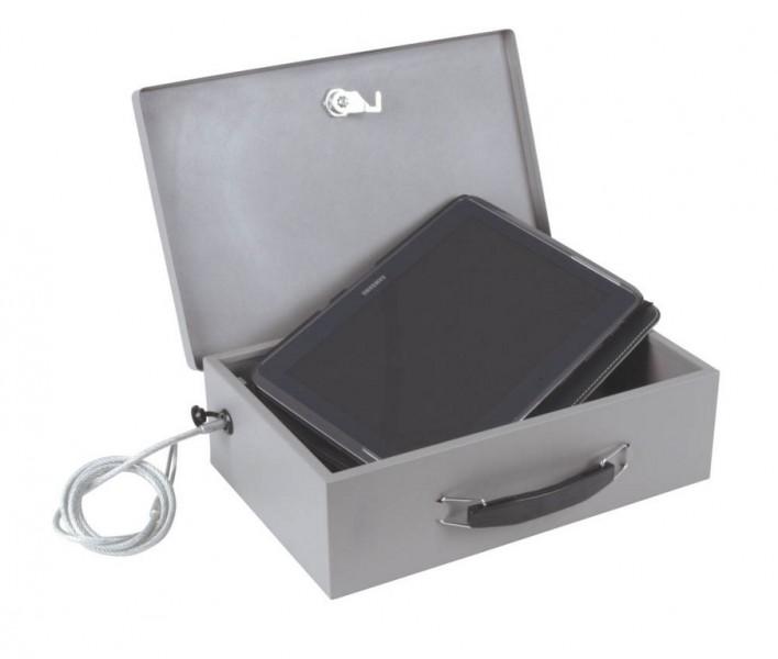 Mini Safe mit Stahlkabel für Tablet