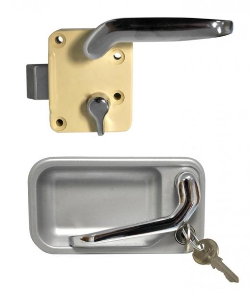 Metall Türschloß waagrecht GX-System