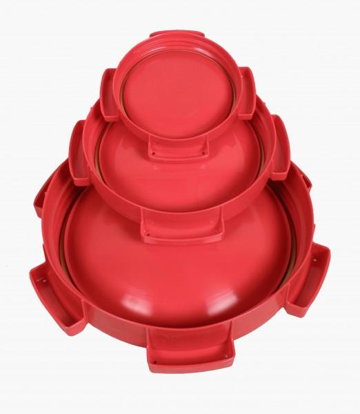 Ersatzdeckel rot für Weithalstonne rund für 10, 15, 20 & 26 L