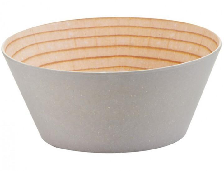 Zeller Salatschale Holzoptik L