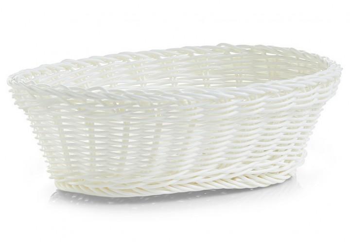 Brotkörbchen oval weiß