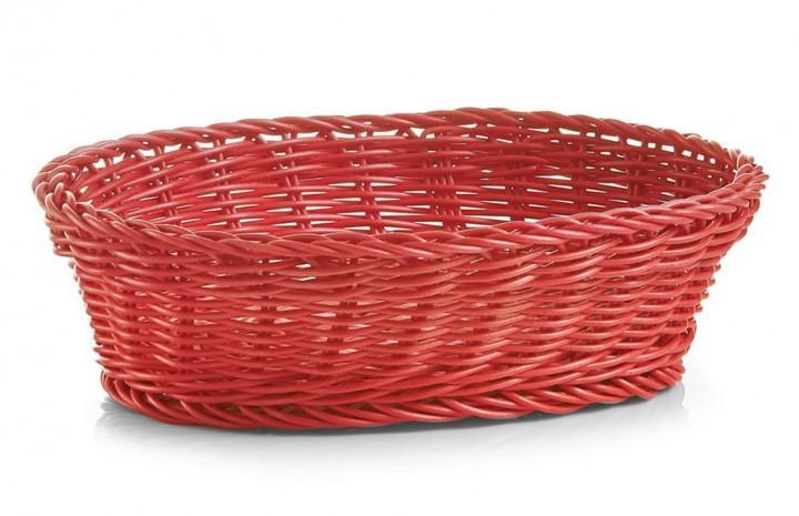 Brotkörbchen oval rot