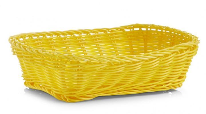 Brotkörbchen rechteckig gelb