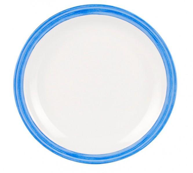 Waca Family Bistro Teller flach blau
