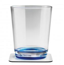 Silwy Magnetgläser mit Untersetzer 2er Set blau